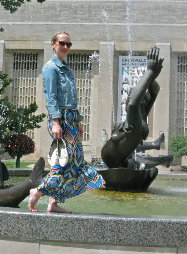 maxi skirt, jean jacket, IU campus, things to do in Bloomington IN
