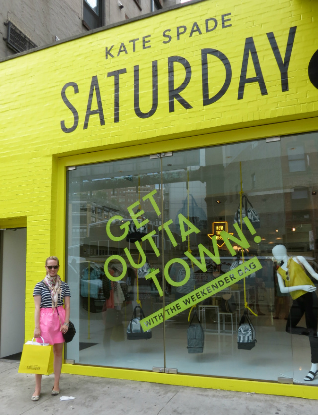 kate spade saturday pop up, meatpacking district nyc