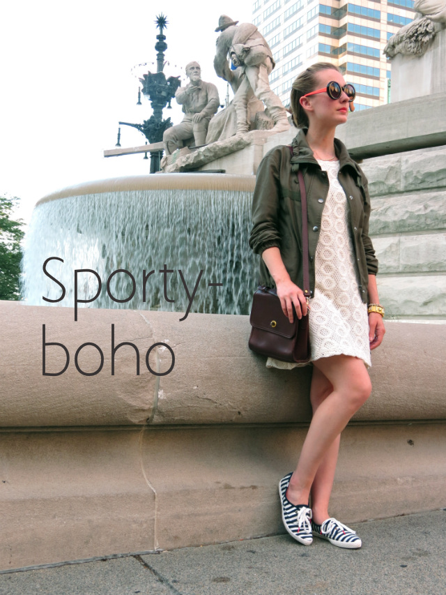 how to wear a utility jacket, how to wear an army jacket, utility jacket with boho outfit