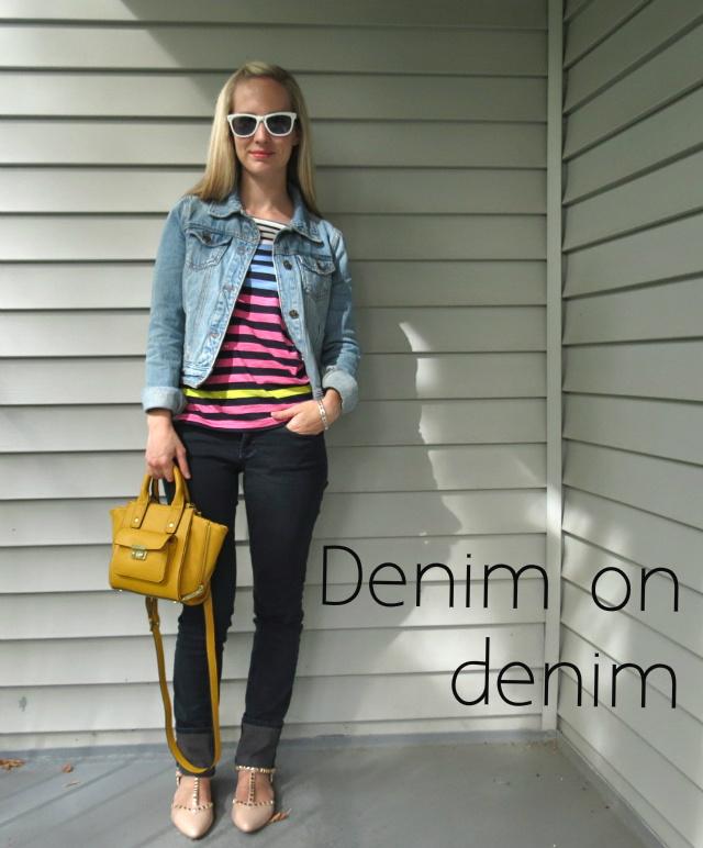 jean jacket with jeans, denim on denim, how to wear a jean jacket