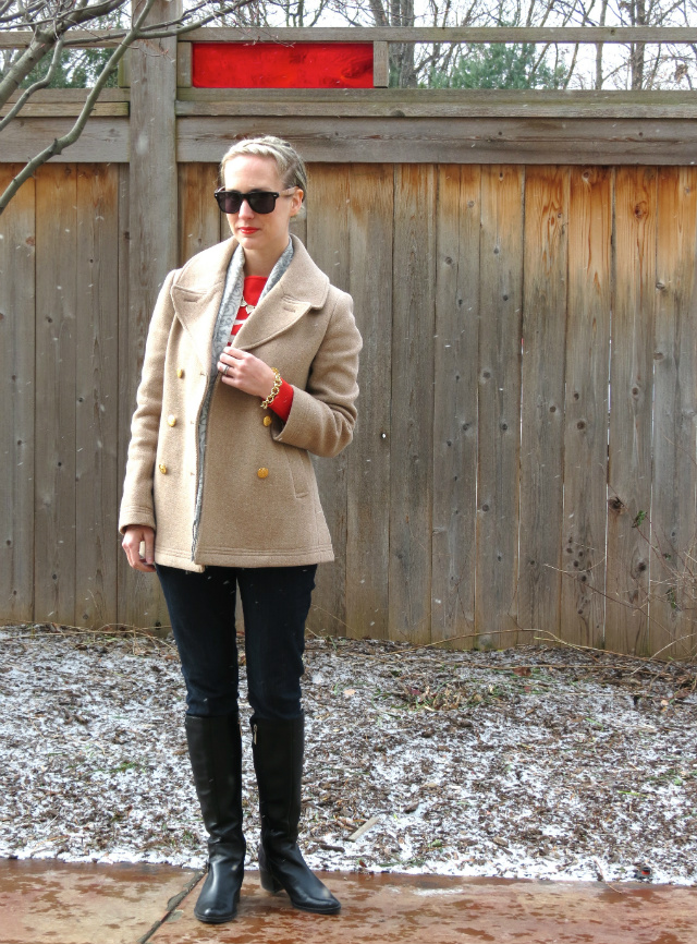 solo sunglasses, gifts that give back, poetic justice jeans, j crew majesty peacoat, winter style, braided updo