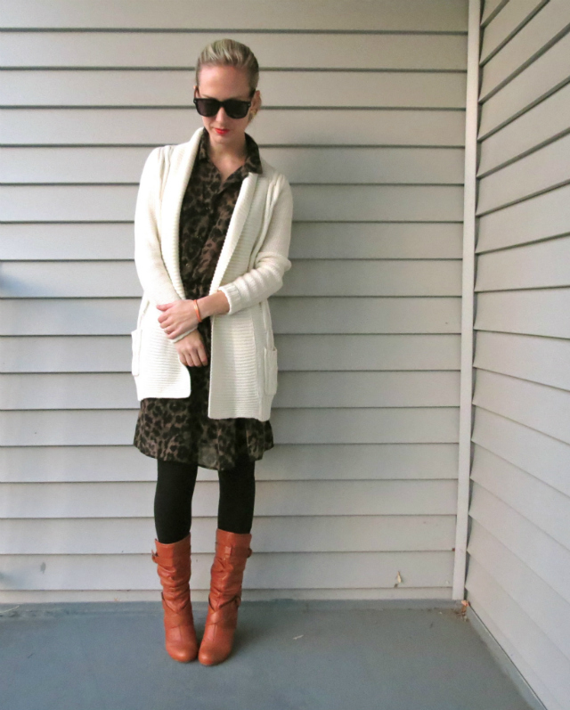 target cardigan, h&m leopard dress, solo sunglasses, law school style, indianapolis style blog