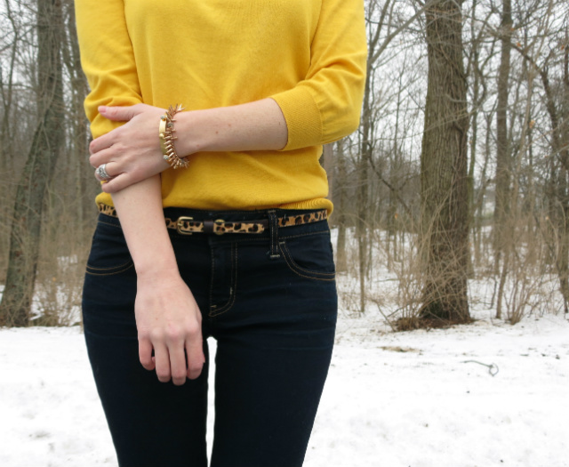dv dolce vita booties, madewell leopard belt, american eagle jeggings, cuffed jeans with ankle boots