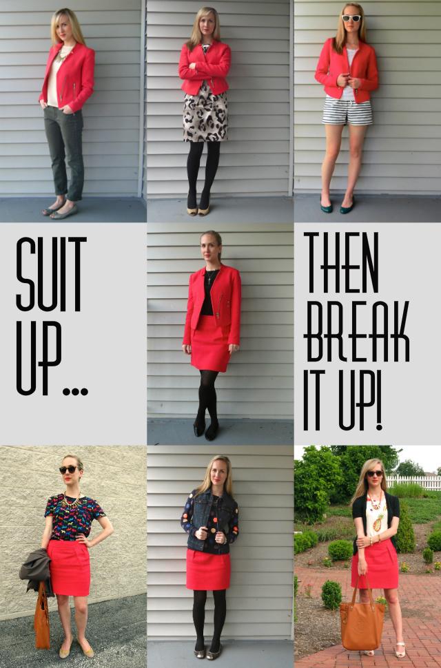 bright suit, women's suits, non-traditional women's suit, target suit, break up a suit