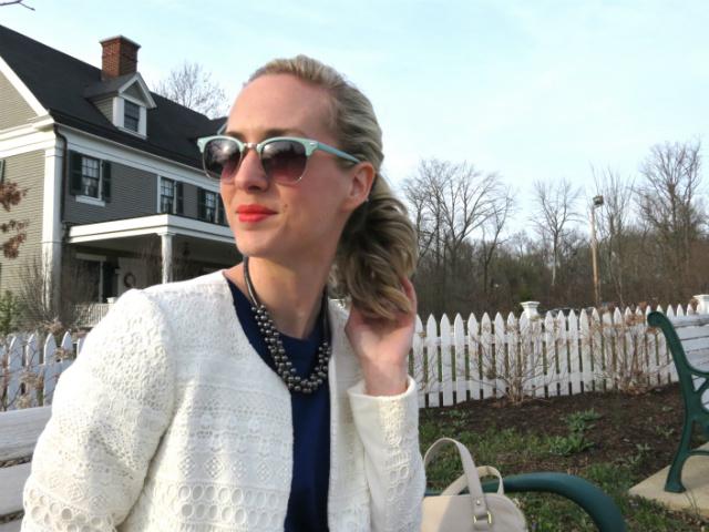 madewell parkline dress, snakeskin mid heel pumps, loft mint sunglasses, indianapolis style blog
