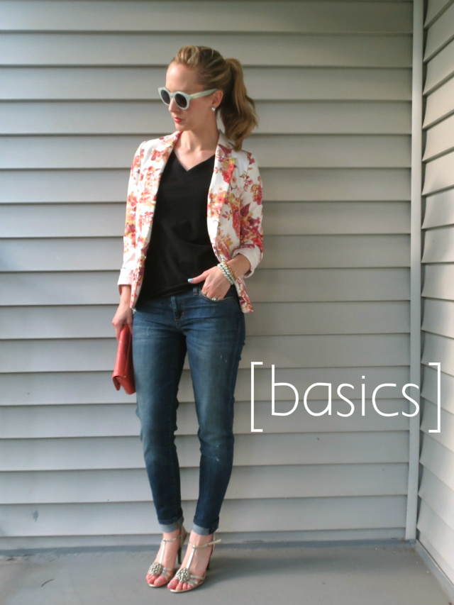 how to wear a floral blazer, ways to wear a floral jacket, one jacket six ways, remix your wardrobe