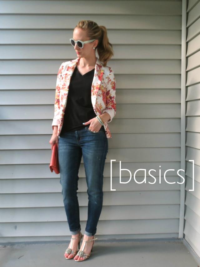 how to wear a floral blazer, ways to wear a floral jacket, one jacket six ways, remix your wardrobe